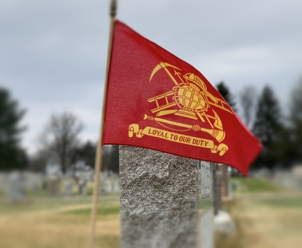 Flag on Grave at Norland Cemetery